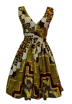 Our new Ankara wrap dress. Available in three African prints. ~African fashion, Ankara, kitenge, African women dresses, African prints, African men's fashion, Nigerian style, Ghanaian fashion ~DKK