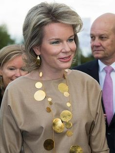 Queen Mathilde visited International Design Fair in Kortrijk