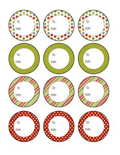 round xmas labels printable