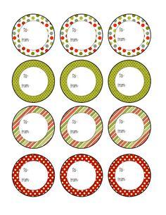 round xmas labels printable