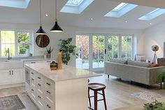 Love Renovate — Renovation tour - a stunning extension carried out from overseas House Extension Plans, House Extension Design, Extension Ideas, House Design, Kitchen Family Rooms, Living Room Kitchen, Home Decor Kitchen, Open Plan Kitchen Dining Living, Open Plan Living