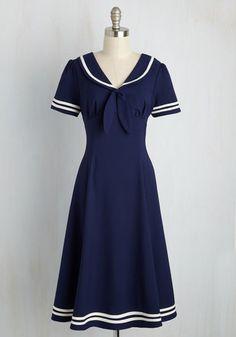Perfect vintage sailor dress. *heart*