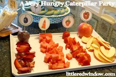 Fruit at a Very Hungry Caterpillar Party #veryhungrycaterpillar #party