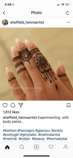 Fingers - henna and Jagua - Henna Designs Hand Henna Hand Designs, Mehndi Designs Finger, Modern Henna Designs, Henna Tattoo Designs Simple, Mehndi Designs For Fingers, Mehndi Art Designs, Beautiful Henna Designs, Simple Henna, Mehndi Fingers