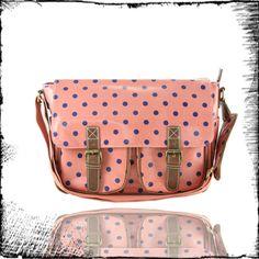 More Dots    #bags #women #fashion #dots #girl #peach