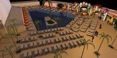 #SISMIX - 3D model of the swimming pool area. #Winamax #poker