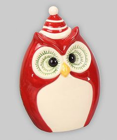 Loving this Red Holiday Owl Figurine on #zulily! #zulilyfinds