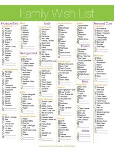 Grocery List Printable Get Organized With This Printable Shopping List and Chore List Printable Shopping List, Shopping List Grocery, Grocery Store, Grocery Checklist, Planning Budget, Menu Planning, Get Healthy, Healthy Recipes, Healthy Foods