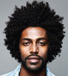 Rock your natural curls with confidence with some help from any of these afro hairstyles for men. be it a retro afro or a modern version or many others! Black Men Hairstyles, Afro Hairstyles, Haircuts For Men, Undercut Hairstyle, Hairstyles 2016, Curly Hair Men, Curly Hair Styles, Natural Hair Styles, Thin Hair