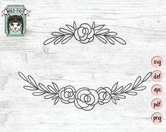 Flowers SVG file Flower Border SVG Flower cut file line Flower Embroidery Designs, Hand Embroidery Patterns, Vintage Embroidery, Floral Embroidery, Embroidery Stitches, Machine Embroidery, Embroidery Sampler, Ribbon Embroidery, Flower Svg