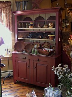 Oh wow...I love everything in this picture. Fine period reproduction antique furniture, primitive furniture, reproduction cupboards, antique wooden furnishings, The Gingham Goose, Rochester, MA