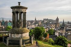 As you start your Scotland Travels in Edinburgh, I recommend spending some time on Calton Hill, especially at Sunset. From there you have unobstructed views of the old town, Edinburgh Castle, and the volcanic Arthur's Seat.