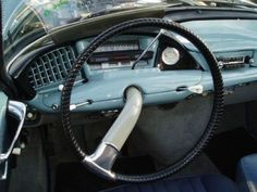 STRANGE STEERING WHEEL AND DASHBOARD - FROM THE 1950'S