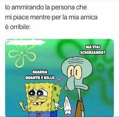 Crazy Funny Memes, Wtf Funny, Funny Jokes, Italian Memes, Verona, Drarry, Spongebob, Michael Jackson, Sentences