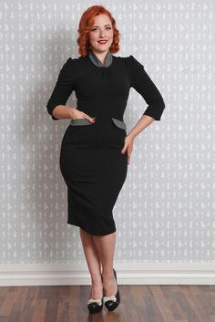 Irvine-Lou - Little black polka dot dress