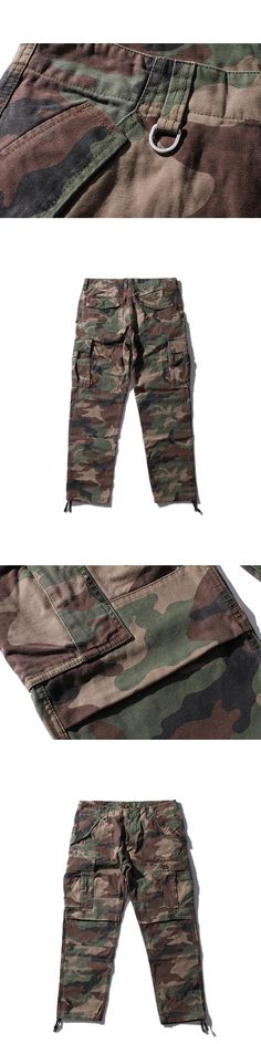 Men Casual Cotton Cargo Pants 2017 Autumn New Arrivals Mens Fashion Militar Army Camouflage Print Pant Trousers