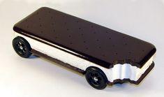 Ice Cream Sandwich Pinewood Derby Car