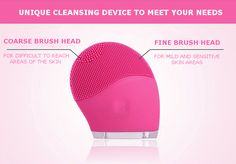 With two sizes of brush head to cater for different areas of cleansing.