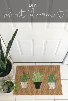 This DIY Plant Doormat is easy to pull off and perfect for customizing with your favorite plants. No need to be an artist, it's simple to make!