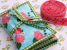 It is common knowledge that a quilter is in need a lovely binding kit.   I bind more than a few quilts every year, so a portable binding...