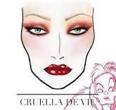 cruella de vil inspired make up