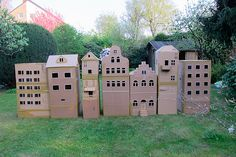 cardboard houses | eight out of twelve. these will be in on … | Flickr