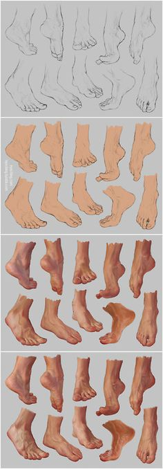 drawing art Feet human Anatomy foot reference tutorial toes references