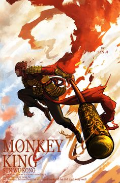 Fashion and Lifestyle Fantasy Warrior, Fantasy Art, Fantasy Landscape, The Legend Of Monkey, Character Art, Character Design, Monkey Pictures, Chinese Mythology, Journey To The West