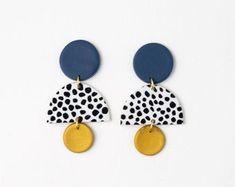 Diy Earrings Kit, Face Earrings, Wood Earrings, Unique Earrings, Leather Earrings, Statement Earrings, Earrings Handmade, Etsy Earrings, Handmade Jewelry