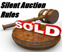 Fundraiser Help: Rules For Silent Auctions