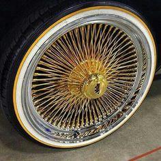 Daytona 100spokes Car Rims, Rims And Tires, Rims For Cars, Wire Wheels, Gold Wheels, Dayton Rims, Chevy Caprice Classic, Pt Cruiser