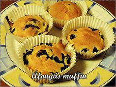 Áfonyás muffin Muffin, Eve, Urban, Breakfast, Food, Muffins, Eten, Meals, Cupcakes