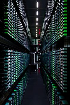 A look inside Google's data centers Written by  John Augustine  Here you can see one of the company's tape library back-up systems in its facility in Berkeley County, South Carolina. Look carefully and you'll see a number of robotic arms that load and unload the tapes as and when required. Every tape has a unique barcode that helps the robotic system get around.