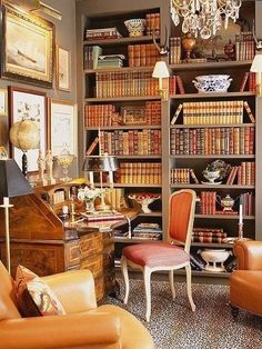 40 Inspiring Vintage Home Library Ideas To Maximize Your Living Room - Home Bestiest