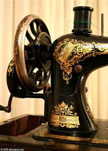 antique sewing machines  I learned to sew on this.