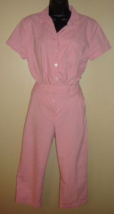 21eb7d47a6bfce SAG HARBOR 2 Piece Pink & White Gingham Capri Pants and Shirt Top Set 12 -  14P #fashion #clothing #shoes #accessories #womensclothing #mixeditemslots  (ebay ...
