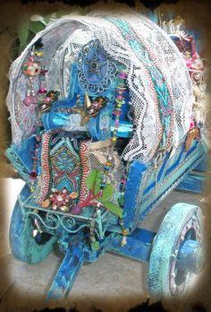 Miniature Fairy Gypsy Wagon  by CauldronCraft, via Flickr