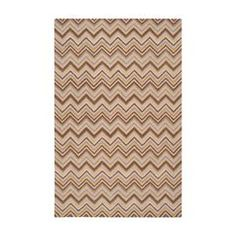 Wool rug with a multicolor chevron motif. Hand-tufted in India.   Product: RugConstruction Material: 100% WoolColor: Bronze, gold and ivoryFeatures:  Made in IndiaHand-tufted Note: Please be aware that actual colors may vary from those shown on your screen. Accent rugs may also not show the entire pattern that the corresponding area rugs have.Cleaning and Care: Blot stains