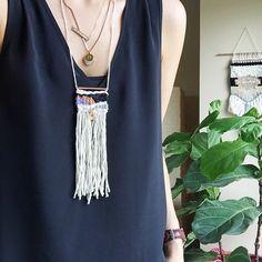 fiber necklace | #mjdjewelry + #mjdweavings