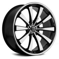 Motiv Wheels Majestic Machine Face Gloss Black Accent