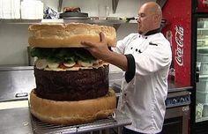 #Humor# #Funny# #Strange# #Mega# #Burger# #Food#