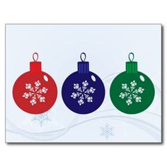 Christmas Baubles Postcard  #Christmas #Baubles #Postcard
