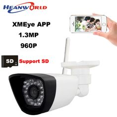 Heanworld 1080p Ip Camera Wifi Cctv Webcam Wireless Surveillance Security Camera 30led Support Smartphone View Sd Card Slot Cam Fixing Prices According To Quality Of Products Security & Protection