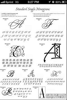 Monogram fonts for tattoo