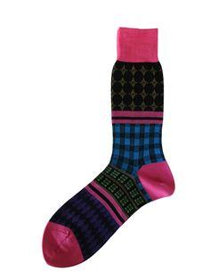 Hh - Mens Socks - Pattern Lab *Pink*
