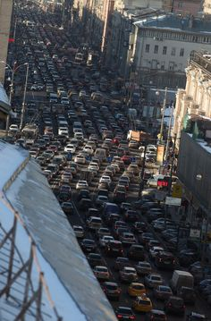A particular incentive to use public transportation in Moscow, is the horrendous traffic jams which often occur.