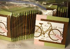 3x3 Swap Convention 2012. Stampin' Up! Postage Due. See Julie Stamp - Julie Wadlinger