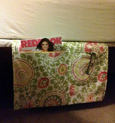 Bedroom Organizer - Double Mattress Pocket. $28.00, via Etsy.