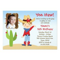 Western Cowboy Birthday Party Invitation