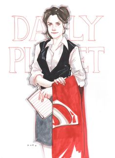 Lois Lane by Phil Noto - Looks so much like Amy Adams' Lois